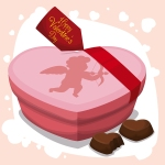 69079793 - pink heart box and chocolates with heart shape to give in valentine's day.